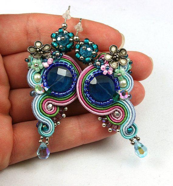 Soutache braid earrings High Fashion by SoutacheOOAK on Etsy