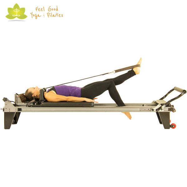 toes paint a line pilates reformer exercise 2