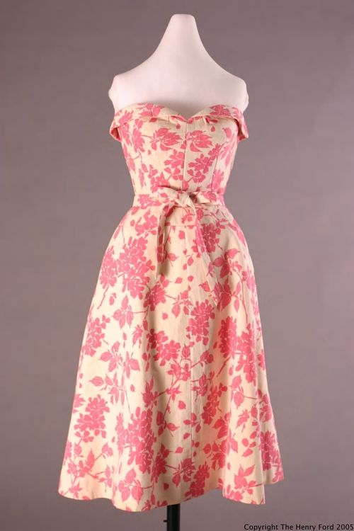 Dress  Cristobal Balenciaga, 1955  The Henry Ford Historic Costume Collection
