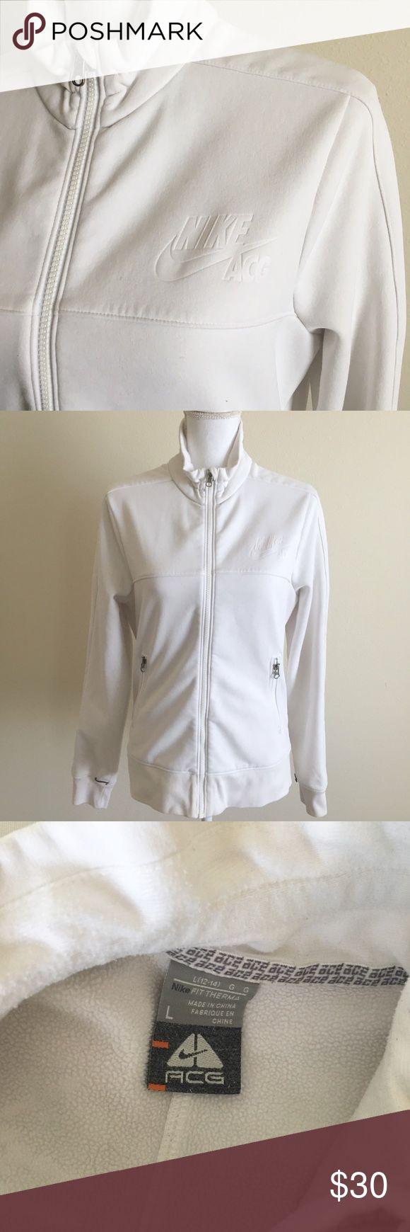 Nike Jacket ✨ Nike ACG zip up thick sweater/ light jacket - Hooded - Soft fleece lining - Women's Large ✨ Nike Sweaters