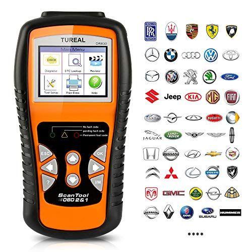 Vehicle Code Reader >> Tureal Obd2 Scanner Professional Enhanced Obd Ii Vehicle Code