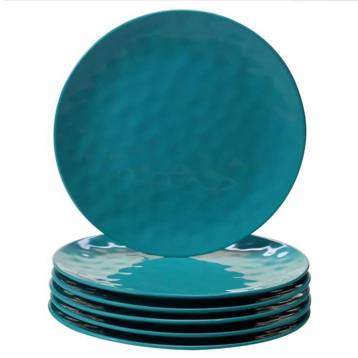 Certified International Teal Dinner Plates