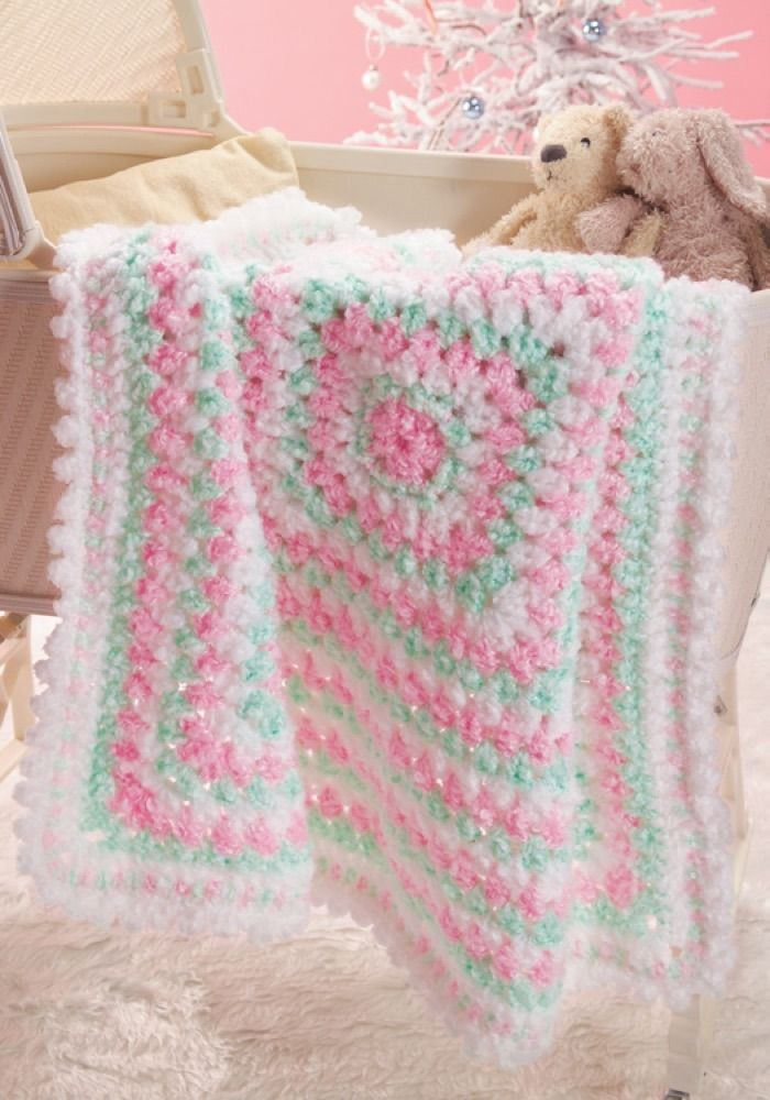 Baby's First Blanket in Red Heart Baby Clouds - CTNov06-96 | Knitting Patterns | LoveKnitting