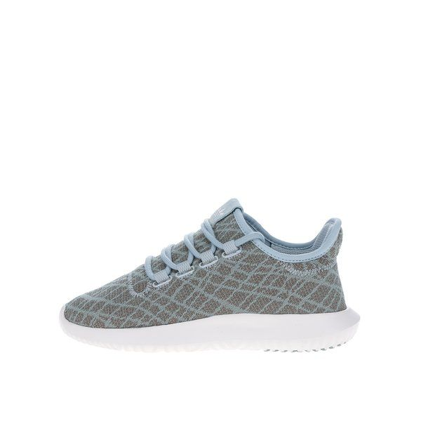 "Pantofi sport kaki melanj pentru femei - adidas Originals Tubular Shadow - - varf rotunjit- culori kaki, verde mentol, alb- inchidere cu sireturi- limba tip ""buritto"" pentru un plus de confort- brant cu perna EVA - sockliner OrthoLite®, care permite aerului sa circule in interior - logo - talpa exterioara din caucciuc rezi"