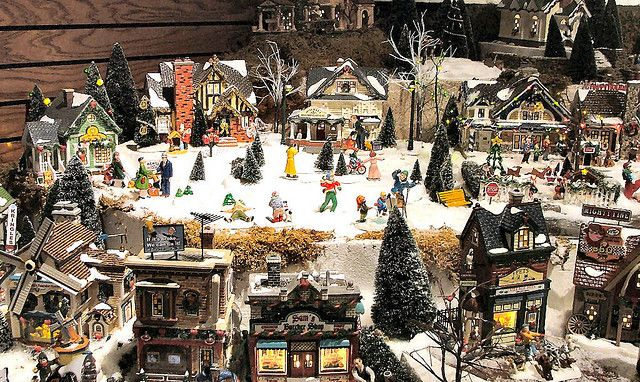 336 best Trains images on Pinterest Garden train, Garden railroad - christmas town decorations
