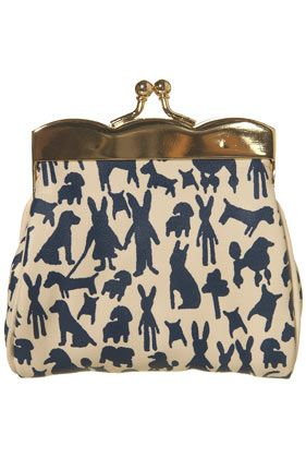 Animal silhouettes!!!: Rabbit Prints, Clutches, Coins Purses, Scallops Purse, Animal Prints, Prints Scallops, Bunnies, Tops Shops, Style Fashion