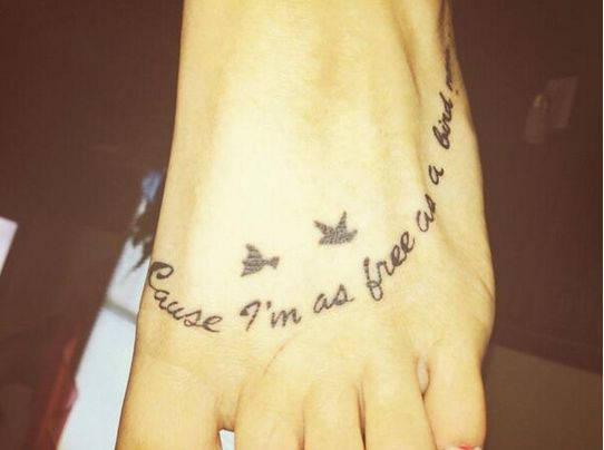"""Free Bird"" Foot Tattoo"