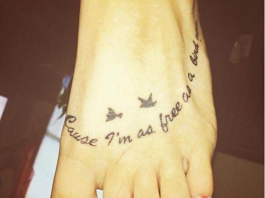 """""""Free Bird"""" Foot Tattoo"""
