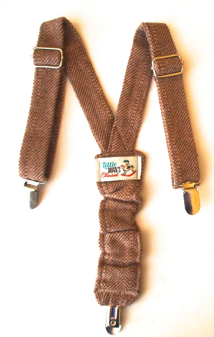 Brown herringbone adorable handmade suspenders are a fun and classic addition to any outfit or photo shoot. They clip to any pair of pants or shorts with metal clips. Adjustable straps and hidden elastic at back to allow to grow with child. $20