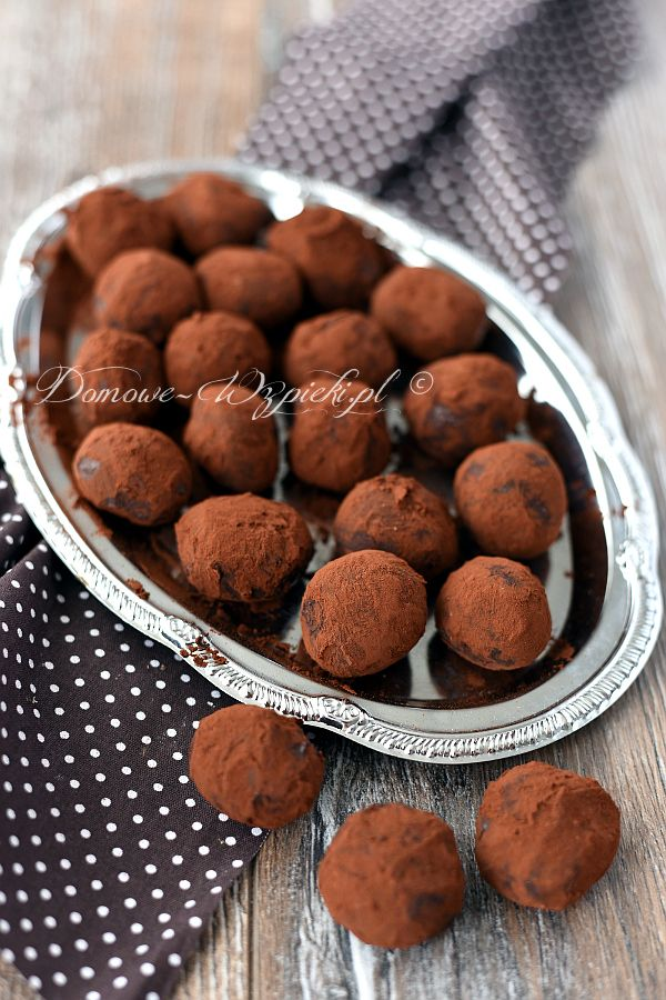 Trufle z gorzkiej czekolady