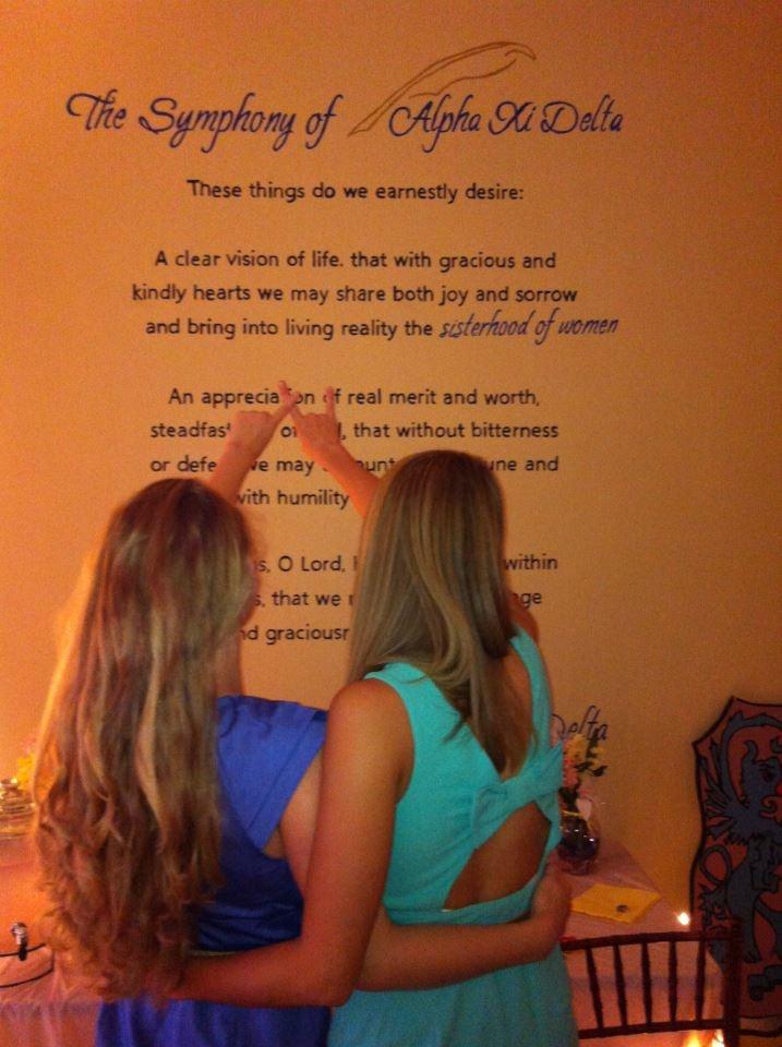 66 best Sisterhood images on Pinterest | Alpha xi delta ...