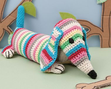 """Ted the Daschund"" Crochet Kit by Rico Design"