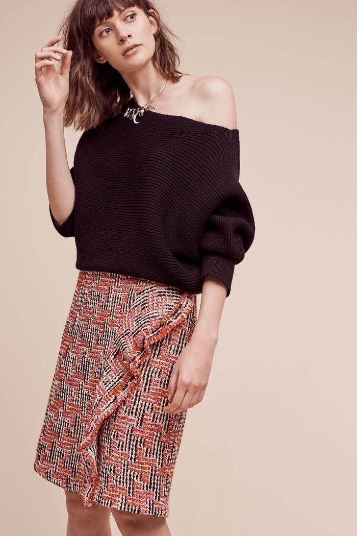 bfcf76fc03 Tweed Pencil Skirt (Regular + Petite) in 2019 | Anthropologie X Eva ...