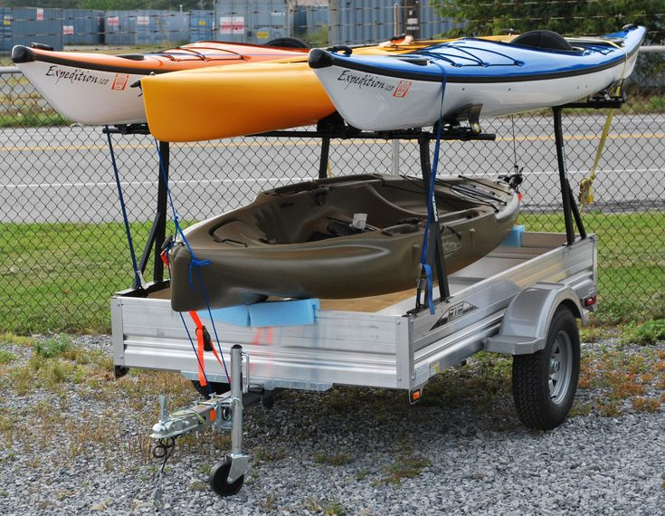 More like what I'm after. Standard box trailer with the kayaks rack too. Would want a longer drawer bar
