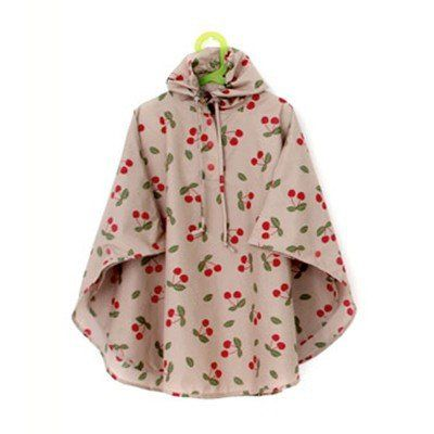 Cherry Poncho - Cool Raincoats. Festival Raincoat.
