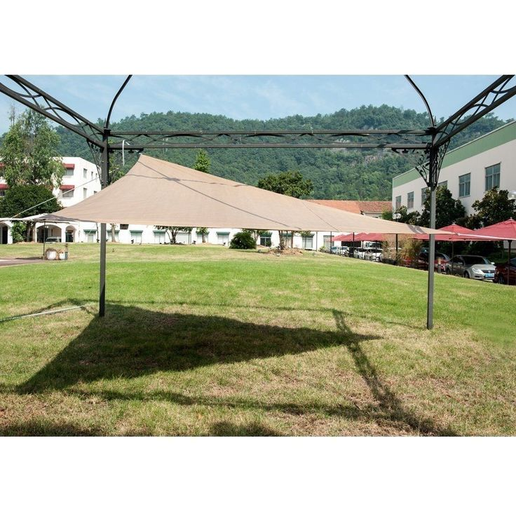 Abba Patio Outdoor Triangle Sun Shade Sail Canopy Shelter With Stainless Steel D-Rings, UV Block Polyethylene,