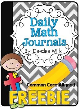FREE!  Daily Math Journals
