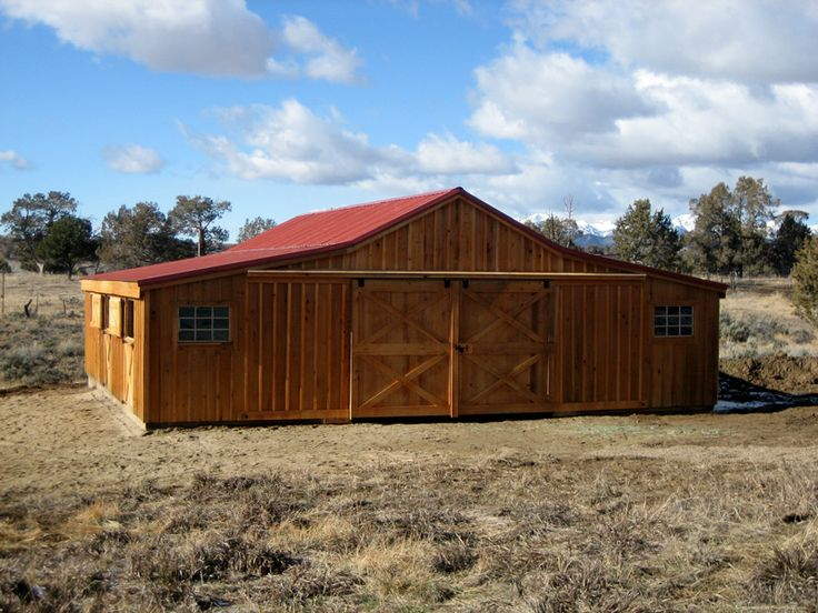 Wood-Ted Horse Barn Delivery to Durango, CO