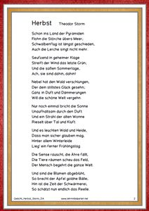 Gedicht: Herbst von Theodor Storm