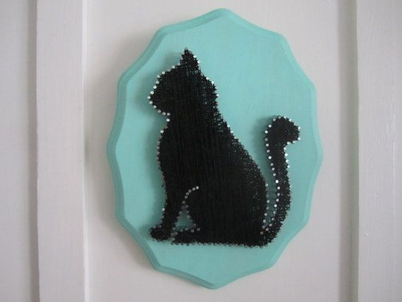 Cat String Art by BernalBurrow on Etsy
