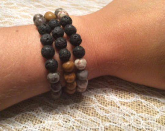 Set of 3 Aromatherapy Lava Stone Diffuser Bracelets - this listing is for 3 bracelets by MickandNick on Etsy