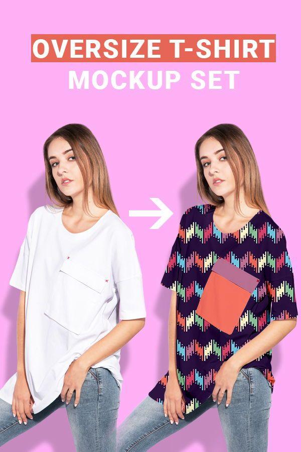 6207+ T Shirt Oversize Mockup Packaging Mockups PSD