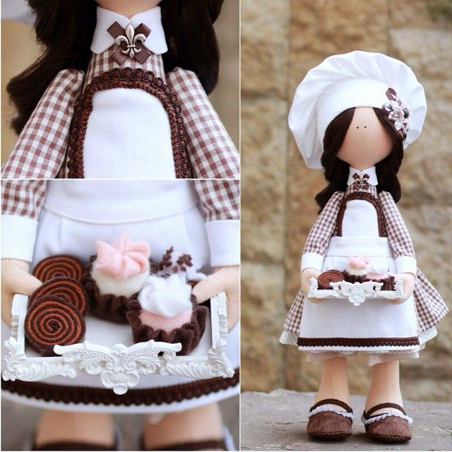 #cozyhomehandmadewithlove #doll #dolls #handmade #авторскиекуклы #авторскиеигрушки #повар #интерьерныеигрушки #шоколадница