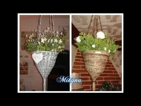 Как сплести подвесные корзины для цветов | oblacco