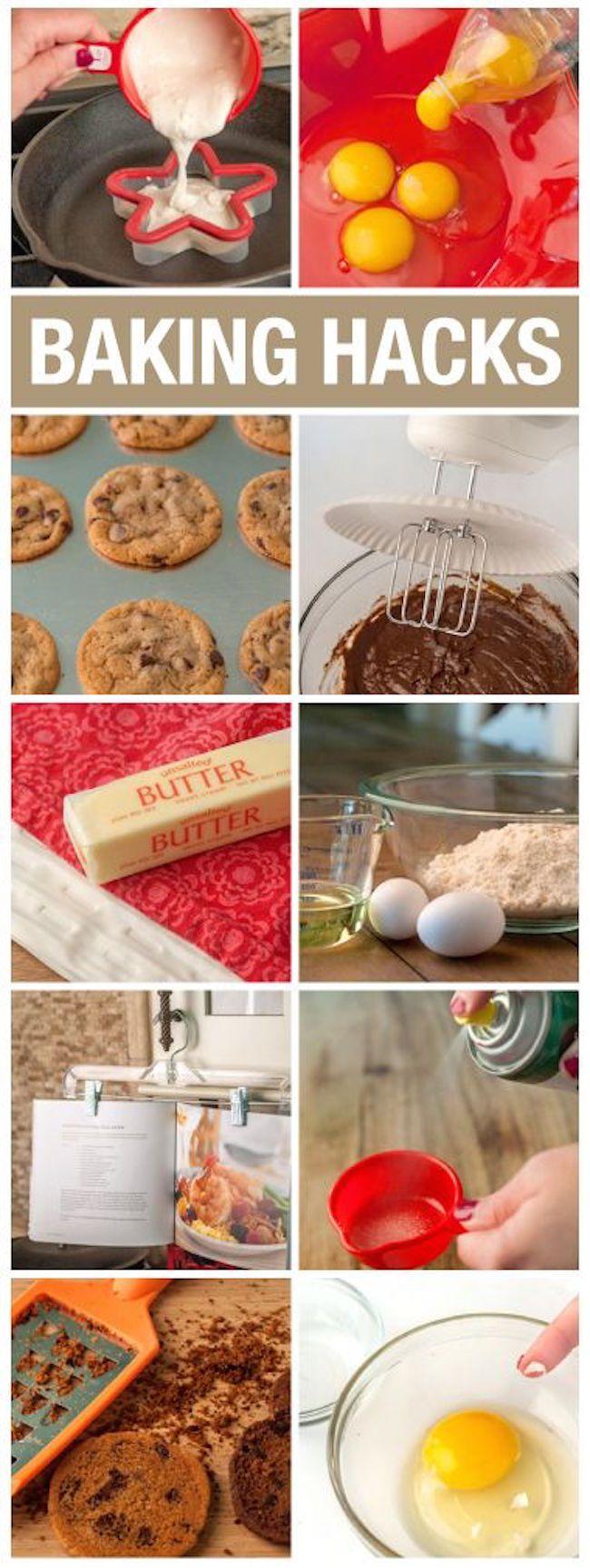Baking Hacks. Genius DIY life hacks for the kitchen.