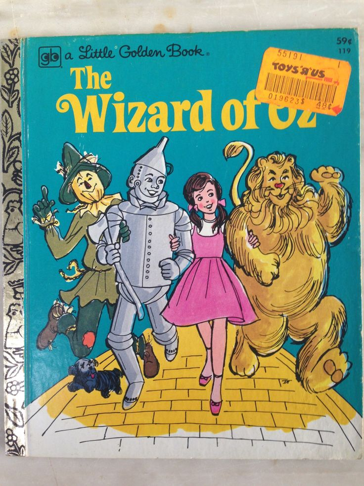 vintage Little Golden Book, The Wizard of Oz, Mary Carey, Don Turner, 4th printing 1978 by MotherMuse on Etsy