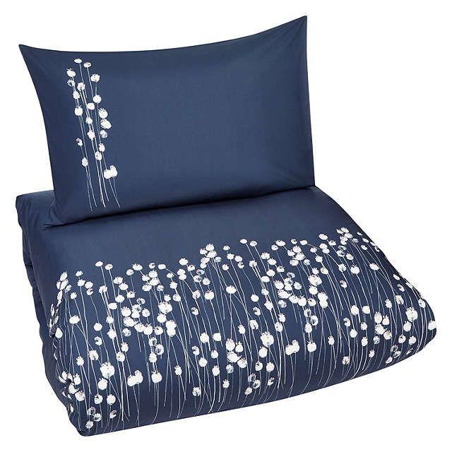 BuyJohn Lewis Croft Collection Poppyheads Standard Pillowcase, Loch Blue Online at johnlewis.com