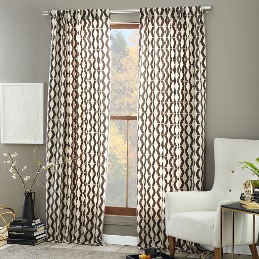 NEW For the Rhombi Flocked Curtain we applied