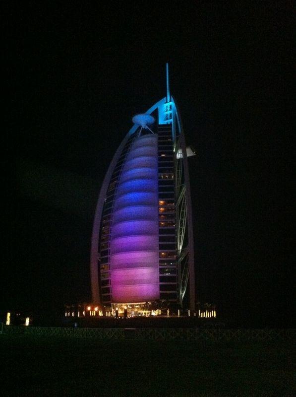 The sail at night