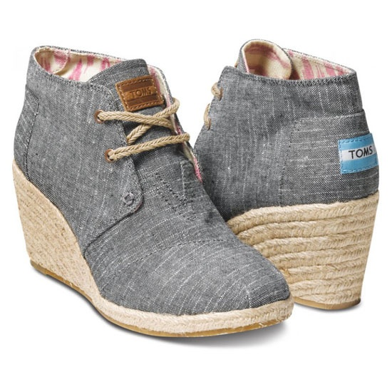 Just got these - LOVE - Toms Wedge