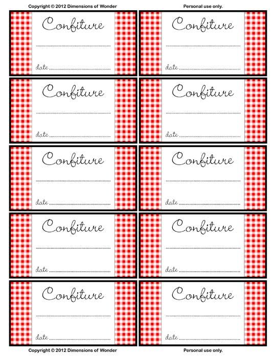 Nostalgic French Jelly Jar Labels, Printable & Free