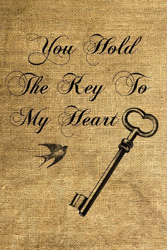INSTANT DOWNLOAD You Hold The Key To My Heart Download door room29