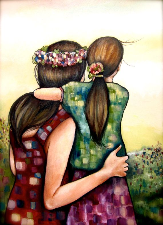 mothers day art print mother and daughter por PrintIllustrations, $18.00