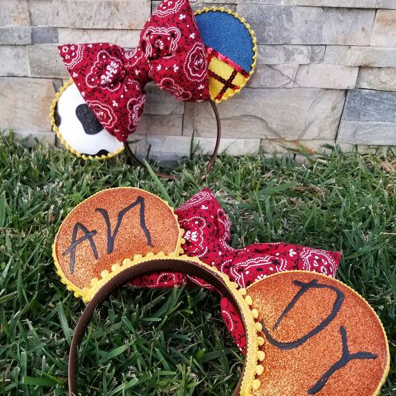 Toy Story Woody Minnie ears Mouse ears Jessie Ears by ThisDFLove