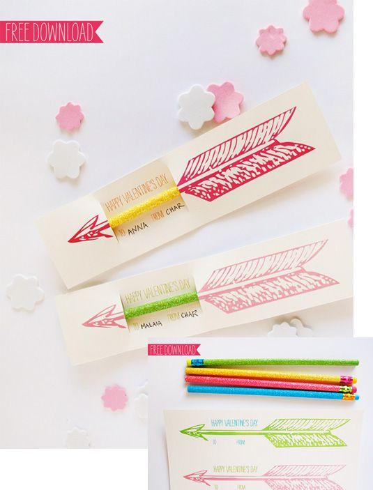 открытка со стрелой из карандаша своими руками на день святого валентина, на 14 февраля, идея подарка
