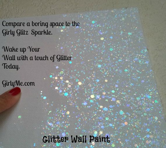 Glitter Wall Paint NEW GIRLY GLITZ in Crystal Clear - Top Coat Paint for Walls, Baby Room, Childrens Room, Boys and Girls on Etsy, $45.00
