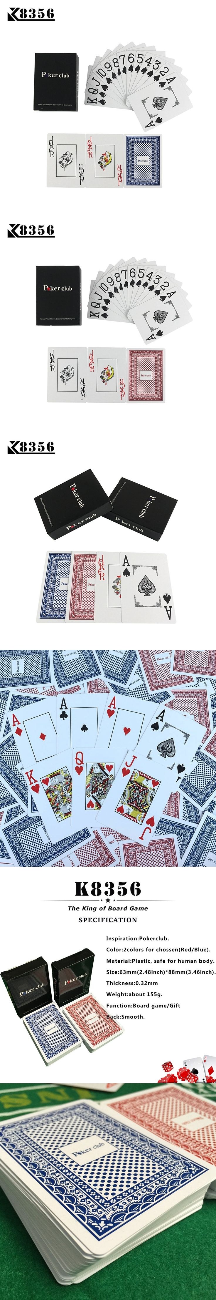K8356 Smooth Waterproof 2 Sets/Lot Baccarat Texas Hold'em Plastic Playing Cards PVC Poker Club Cards Board Games 2.48*3.46 inch
