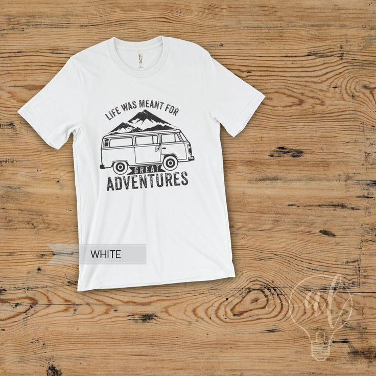 Mountain shirt - Hiking Shirt - Adventure shirt - Camping shirt - nature shirt - life is about having great adventures shirt - travel shirt by AlvaLumos on Etsy