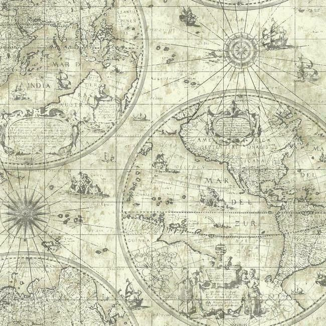 Wallpaper Traditional Old World Map Neutral Colors In 2020 Map Wallpaper Nautical Wallpaper Nautical Map