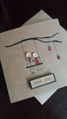 Hacer tarjetas de amor a mano la tendencia para enamorados