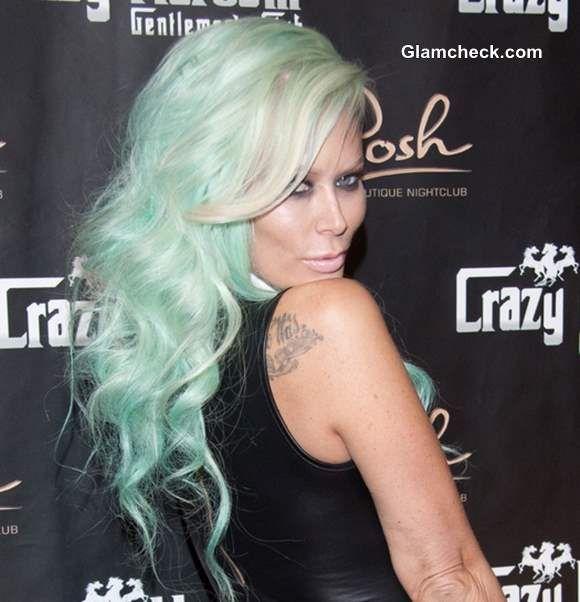 Jenna Jameson's Sea-foam Green Hair Color