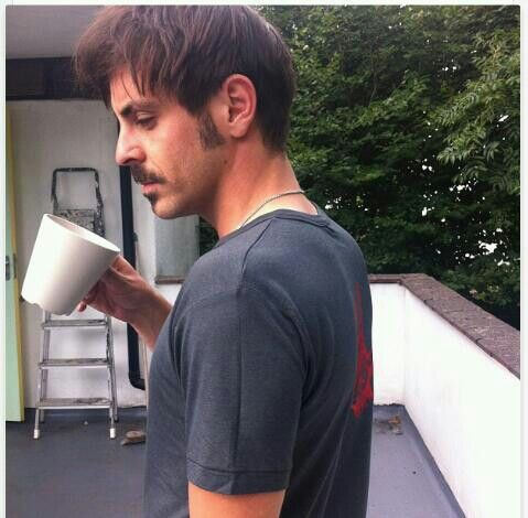 Love a man who can look gorgrous drinking tea