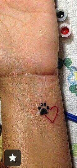 awesome Tiny Tattoo Idea - Dog love ... Check more at http://tattooviral.com/tattoo-designs/small-tattoos/tiny-tattoo-idea-dog-love/