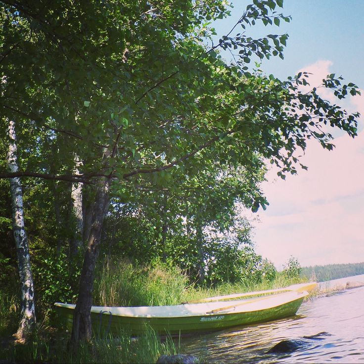 Summer, cottage, lake, sun