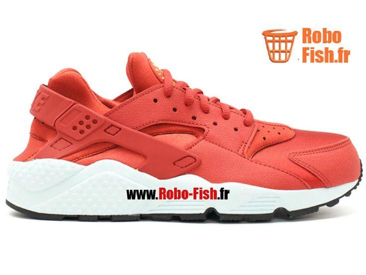 Nike Air Huarache Run - Chaussure Nike Running Pas Cher Pour Homme Cinabre Lsr Orng-Fbrlss-Blk 634835-600