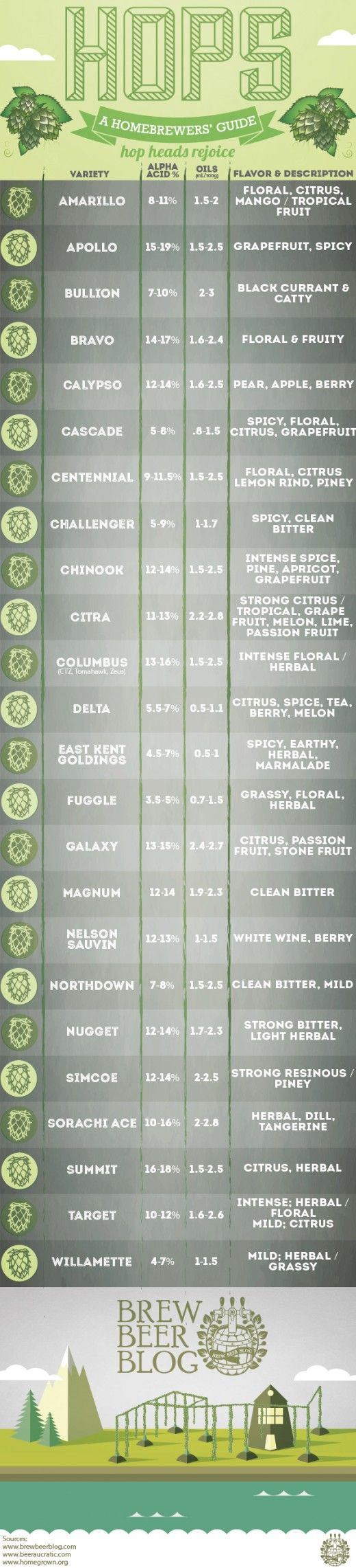 Hops Guide: We love beers with rare hops here at the Missing Drink. Why not check out some of our beer reviews? http://www.themissingdrink.com/